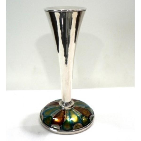 Candelero plata y esmalte a fuego 1