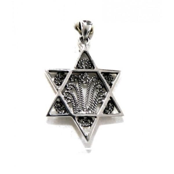 Estrella de David plata 2